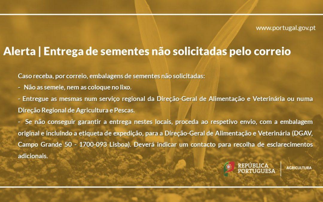 Ministério da Agricultura alerta para a entrega de sementes não solicitadas pelo correio